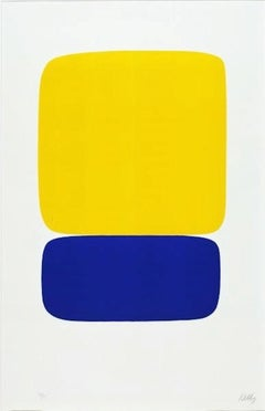 Yellow Over Dark Blue, Ellsworth Kelly