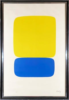 Yellow Over Dark Blue (from the Suite of Twenty-seven Color Lithographs)