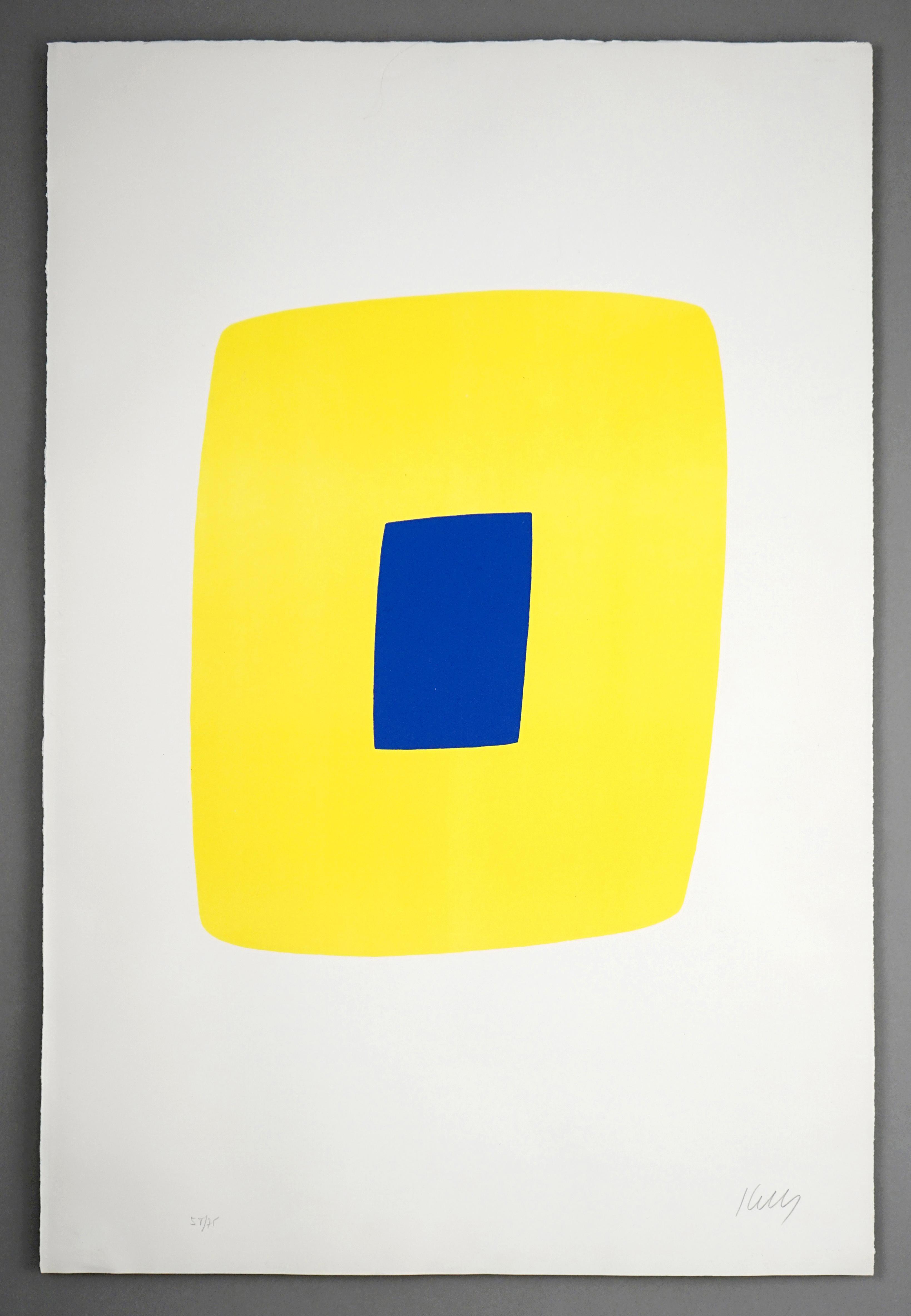 Yellow with Dark Blue (Jaune avec Bleu Foncé)