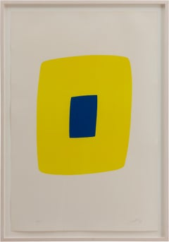 Yellow with Dark Blue (Jaune Clair avec Bleu Foncé)