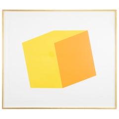 Ellsworth Kelly Yellow and Orange Lithograph