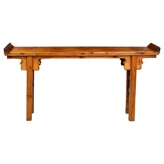 Elm and Pine Shanxi Altar Table, China, 20th Century