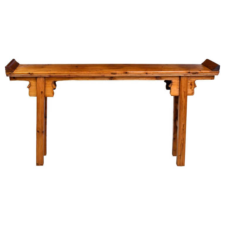 Elm and Pine Shanxi Altar Table, China, 20th Century For Sale