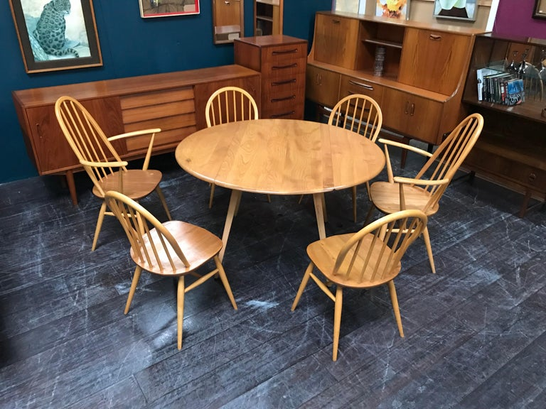 beech dining room furniture | Elm and Beech Drop Leaf Dining Table and 6 Chairs by ...