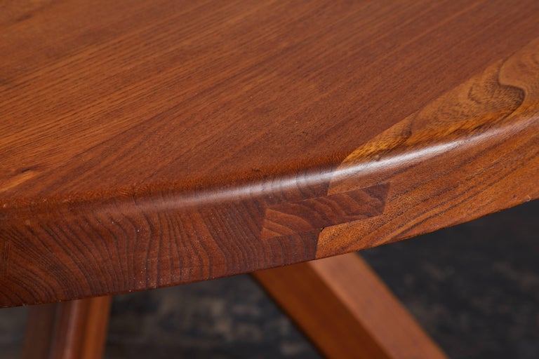 Elm Dining Table by Pierre Chapo For Sale 7