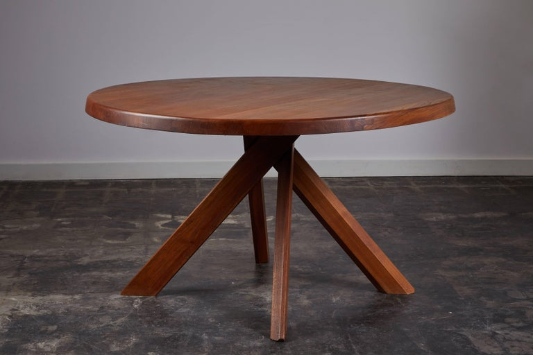 Elm Dining Table by Pierre Chapo For Sale 3
