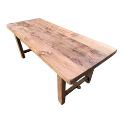 Elm Normandy Thick Top Pale Rustic Farmhouse Table