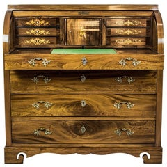 Elm Secretary Desk, circa the 19th Century