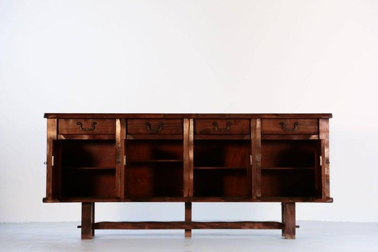 Elm Sideboard by Olavi Hanninen, 1960s For Sale 1