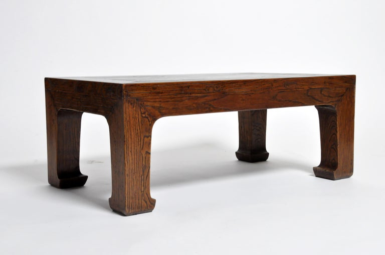 Elm Wood Coffee Table For Sale 6
