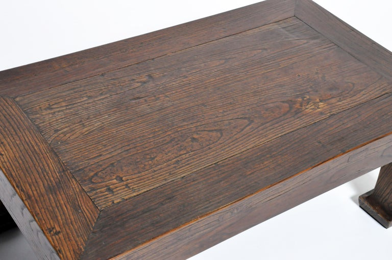 Elm Wood Coffee Table For Sale 8