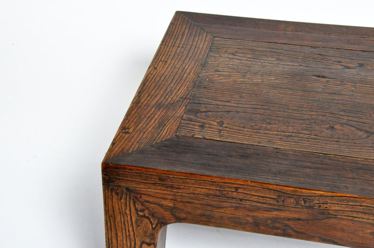 Elm Wood Coffee Table For Sale 1