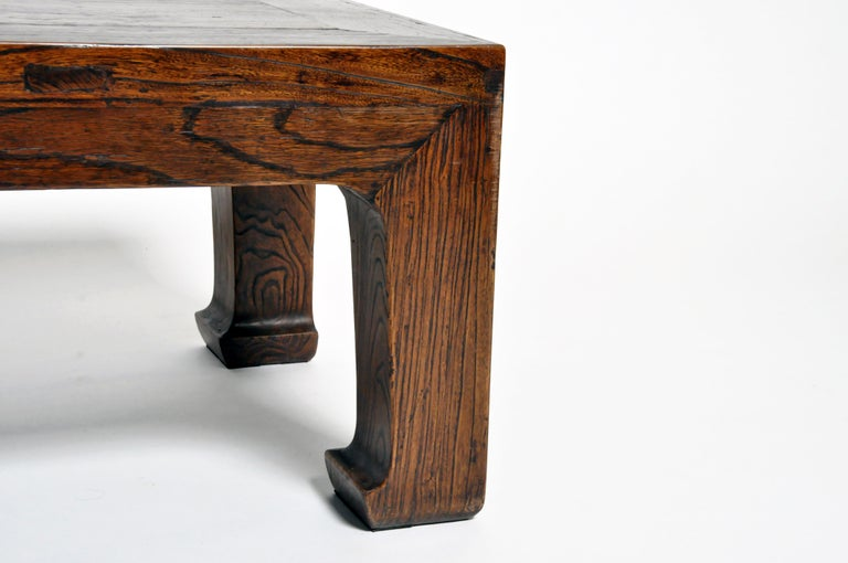 Elm Wood Coffee Table For Sale 2