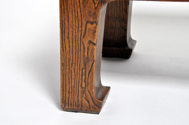Elm Wood Coffee Table For Sale 4
