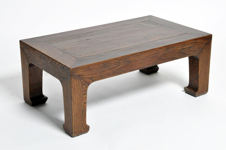 Elm Wood Coffee Table For Sale 5