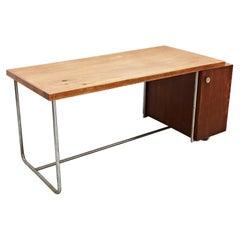 Elmar Berkovich Desk in Wood and Tubular Metal, circa 1930