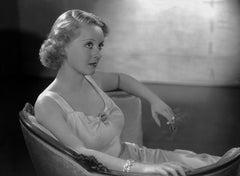 Bette Davis Posed in Chair Movie Star News Fine Art Print