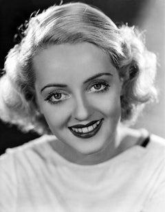 Bette Davis Smiling Up Close Movie Star News Fine Art Print
