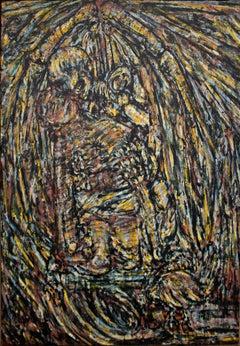 "Elmi Ventura Mata, Center of triptych, 57"" x 46"", oil on canvas"