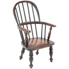 Elmwood Early 19th Century Windsor Childs Chair or Doll's Chair