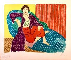 Elmyr De Hory Colorful Fauvist Lithograph after Henri Matisse Hand Signed