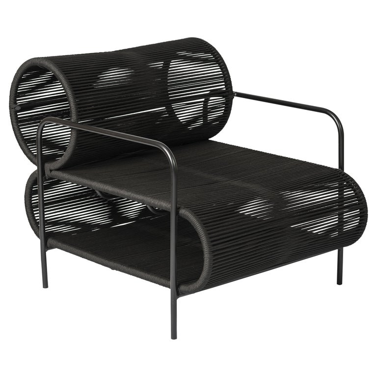 Post-Modern ELO Armchair and Footstool Set for Indoor and Outdoor Use by Filipe Ramos For Sale