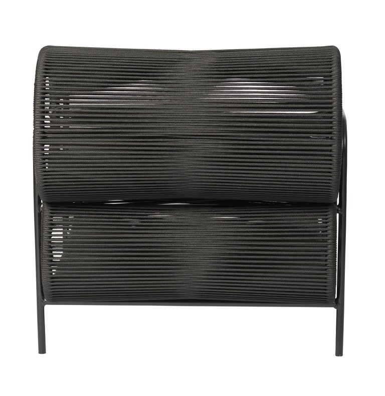 Powder-Coated ELO Armchair and Footstool Set for Indoor and Outdoor Use by Filipe Ramos For Sale