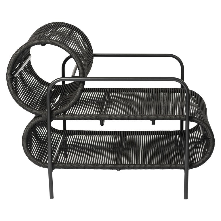 ELO Armchair in Metal and Rope for Indoor and Outdoor Use by Filipe Ramos For Sale