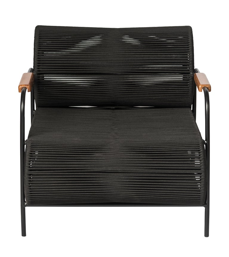 Post-Modern ELO Armchair for Indoor and Outdoor Use with Wood Armrest by Filipe Ramos For Sale