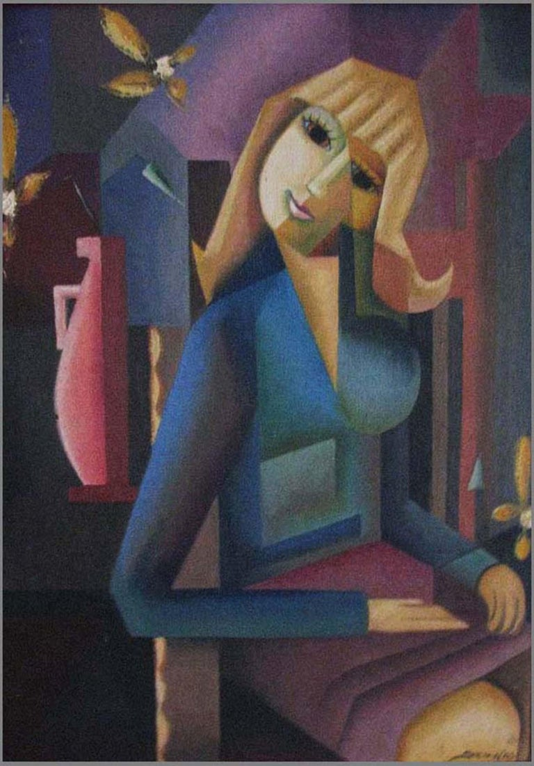 Eloisa Schwab Figurative Painting - Seated Woman