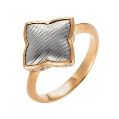 Victor Mayer Eloise Ring 18k Rose Gold/White Gold with 16 Diamonds