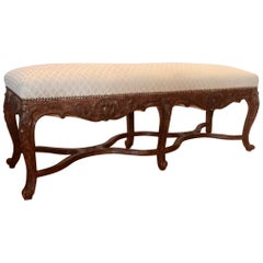 Elongated Country French Bench