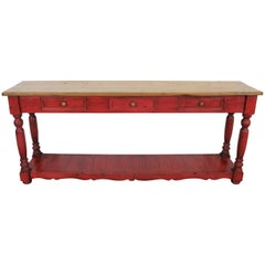 Elongated Country French Console/Hall Table