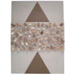 Elrod/Chase Designers Modern Art Painting of Wood and Canvas by Andy Nelson