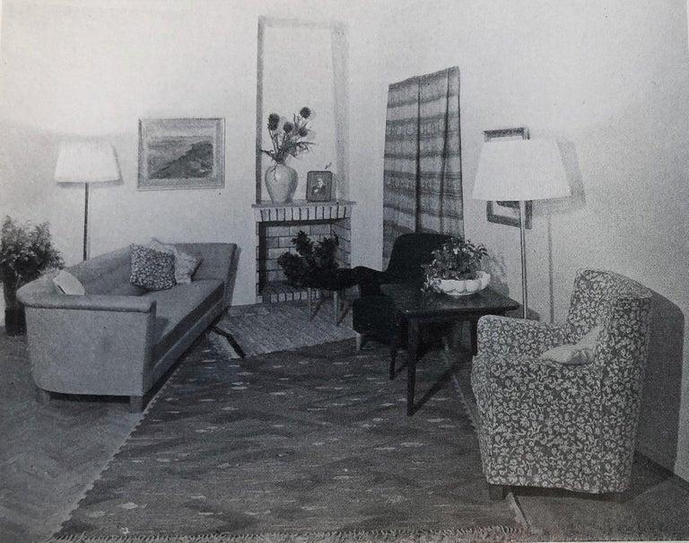 Elsa Gullberg Armchair in Taupe Velvet and Elm, Sweden, Late 1930s For Sale 7