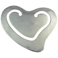 Elsa Peretti by Tiffany Sterling Silver Heart Shaped Book Mark .3oz.