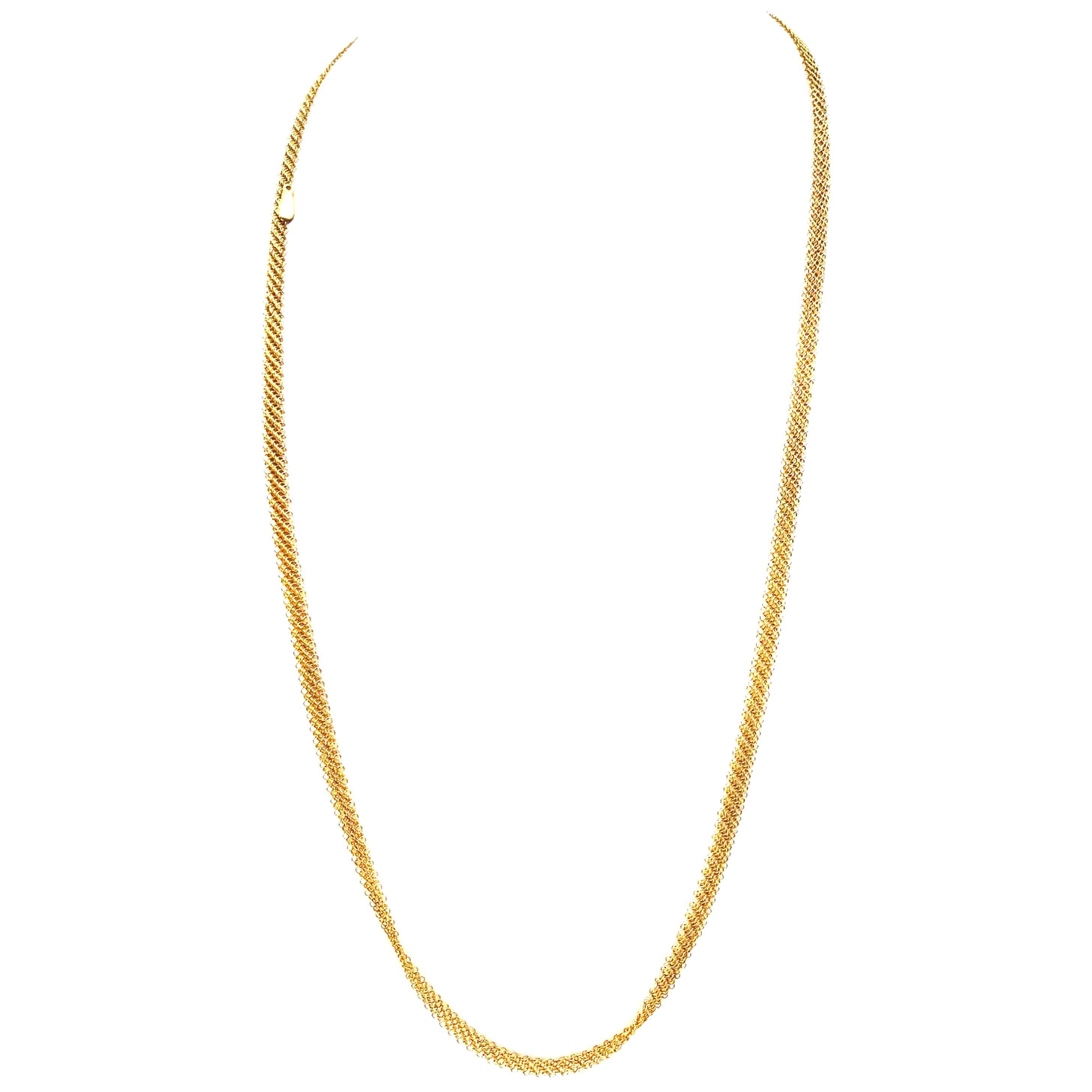 Elsa Peretti for Tiffany & Co. 18 Karat Long Mesh Necklace