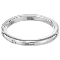 Elsa Peretti for Tiffany & Co. .02 Carat Diamond Platinum Band Ring