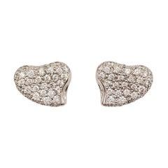 Elsa Peretti for Tiffany & Co. Platinum Diamond Earrings