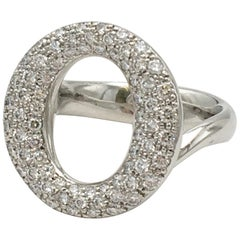 Elsa Peretti for Tiffany & Co. 'Sevillana' Platinum Diamond Pave Ring