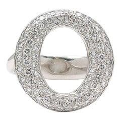 Elsa Peretti for Tiffany & Co. Sevillana Platinum Diamond Ring