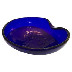 Elsa Peretti Thumbprint Bowl Dish for Tiffany & Co. Cobalt Blue Glass