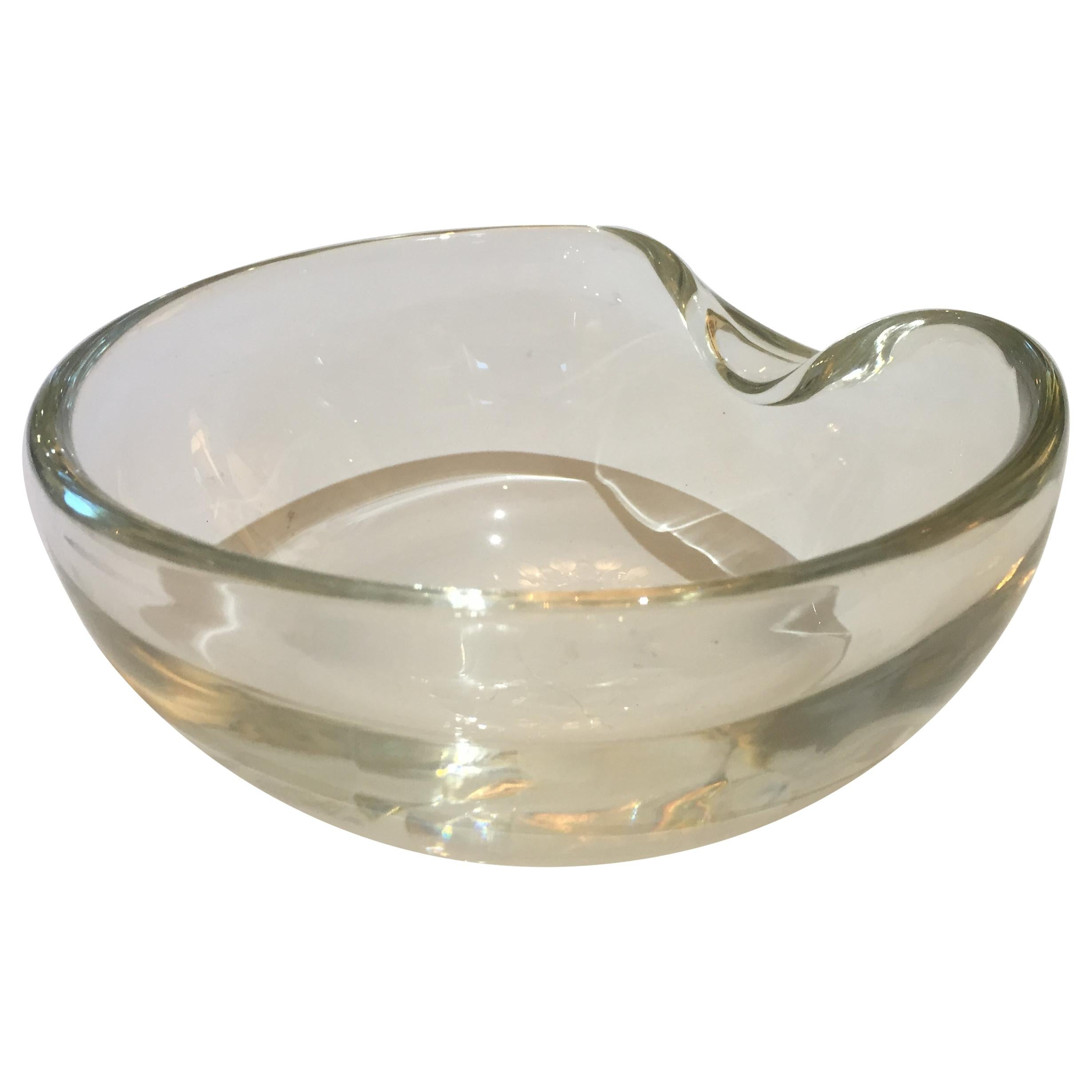 Elsa Peretti Thumbprint Bowl for Tiffany & Co. Clear Glass