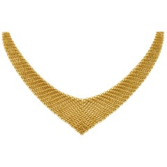 Elsa Peretti Tiffany & Co. 18 Karat Yellow Gold Mesh Scarf Necklace