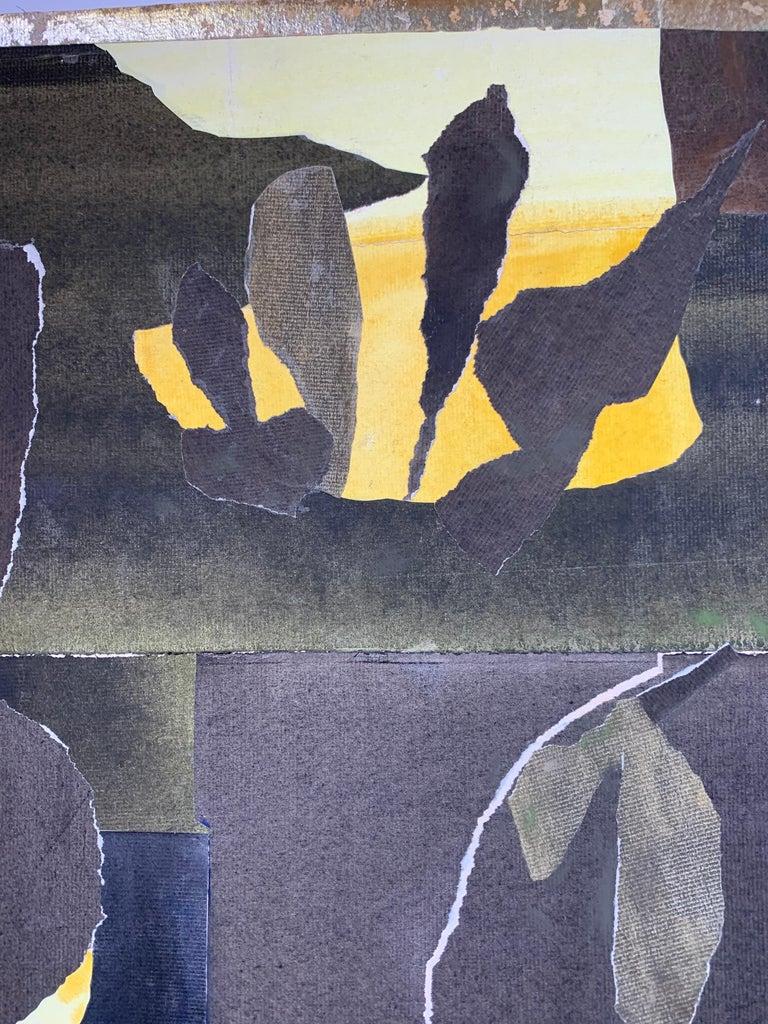 Three Black Vases (abstract expressionist still life) - Abstract Expressionist Painting by Elsie Driggs