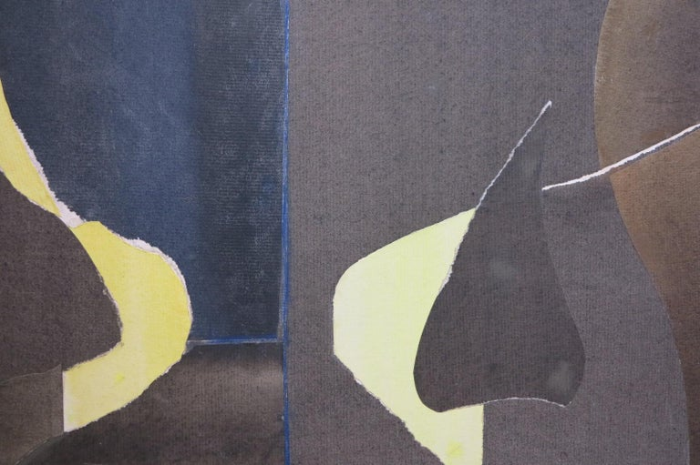 Three Black Vases (abstract expressionist still life) For Sale 2