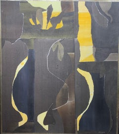 Untitled (abstract expressionist collage painting)