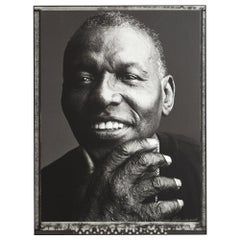 Elvin Jones, Pier 59 Studios New York framed Print by Marco Glaviano