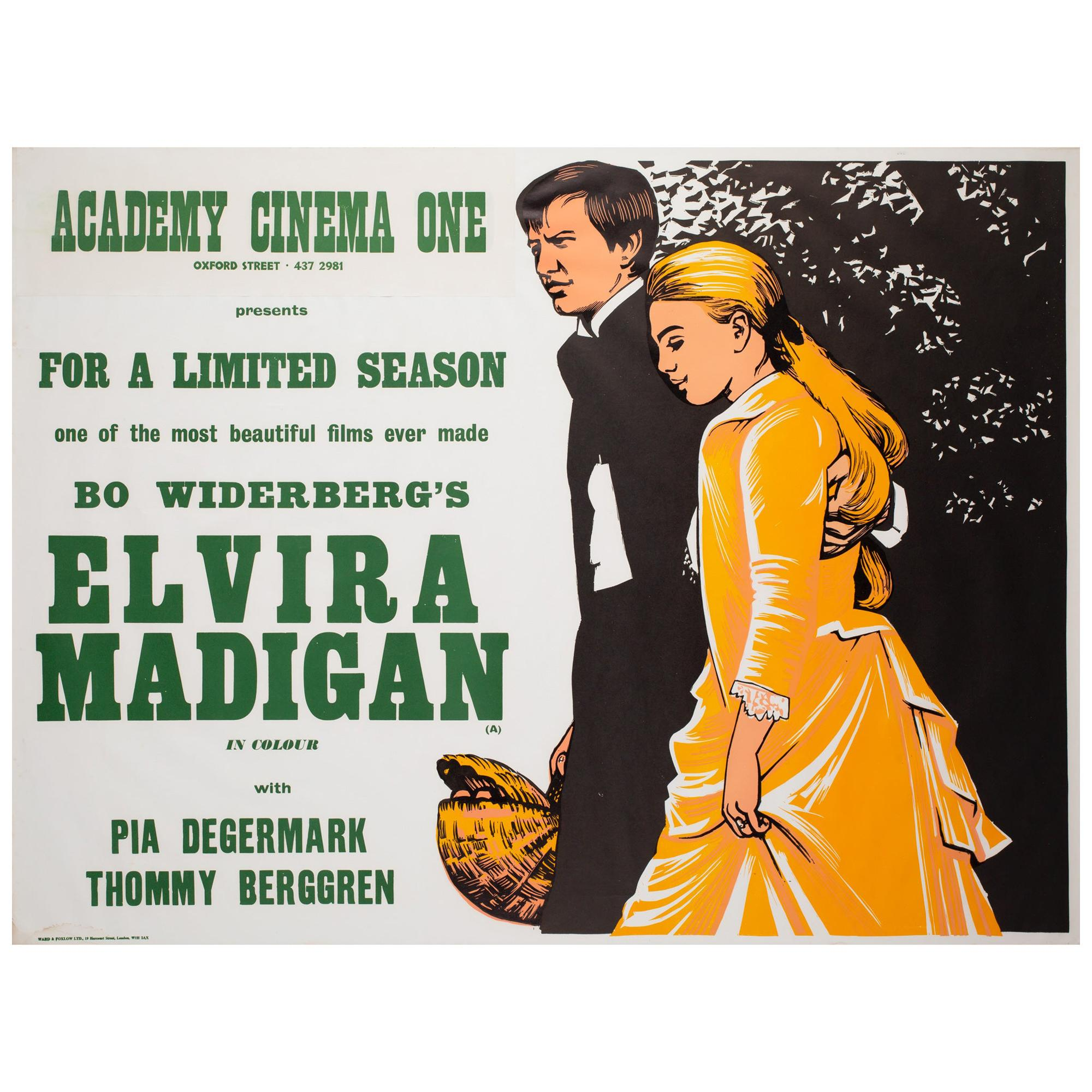 Elvira Madigan 1968 Academy Cinema UK Quad Film Movie Poster, Strausfeld