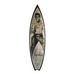 Elvis (carbon) Surfboard after Andy Warhol